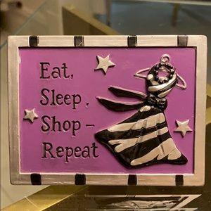 Eat, Sleep, shop-repeat sign Frame